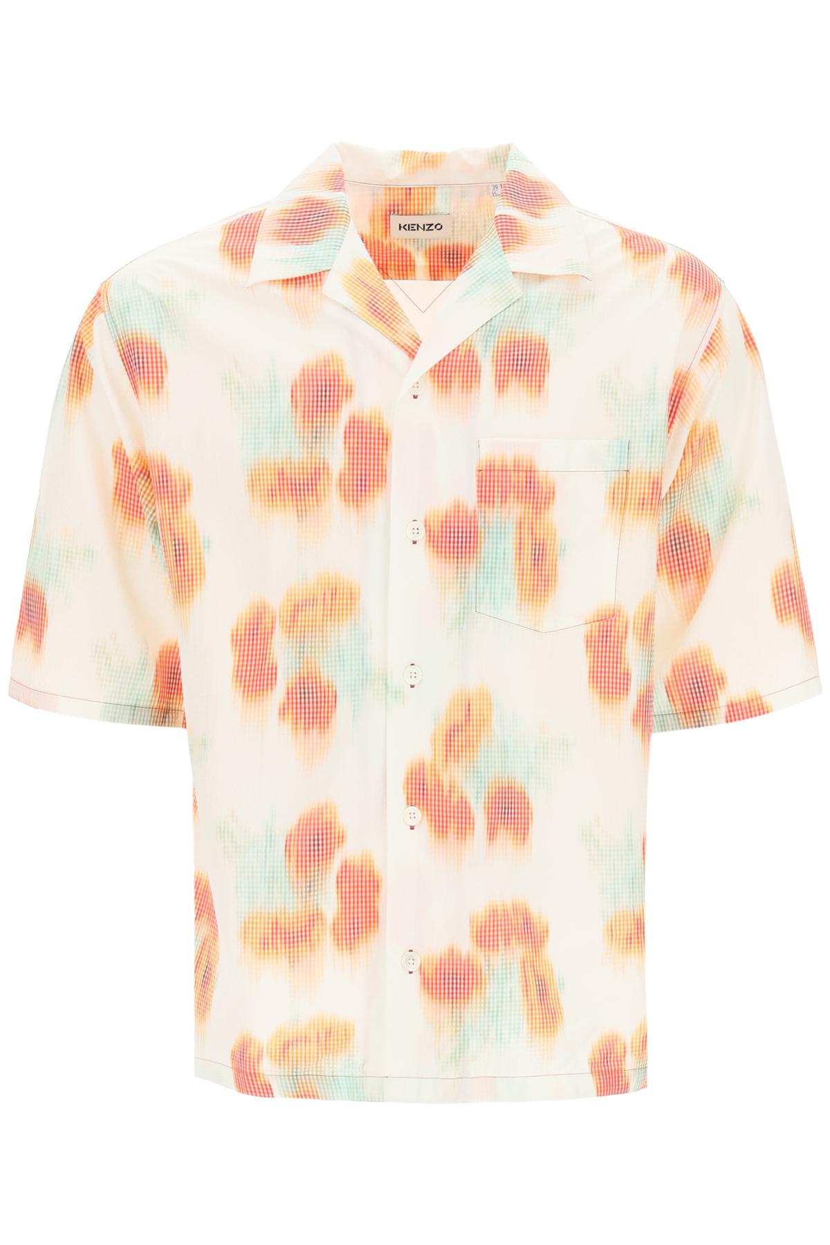 Kenzo camicia hawaiian stampa coquelicots