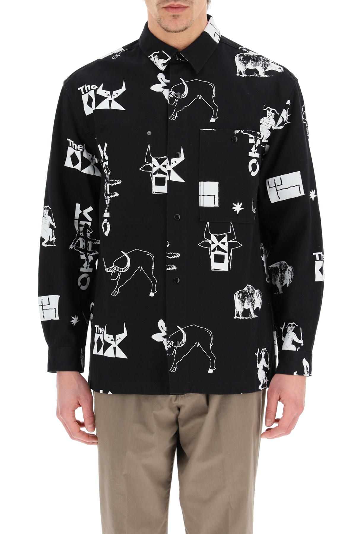 Kenzo giacca-camicia sign & symbol