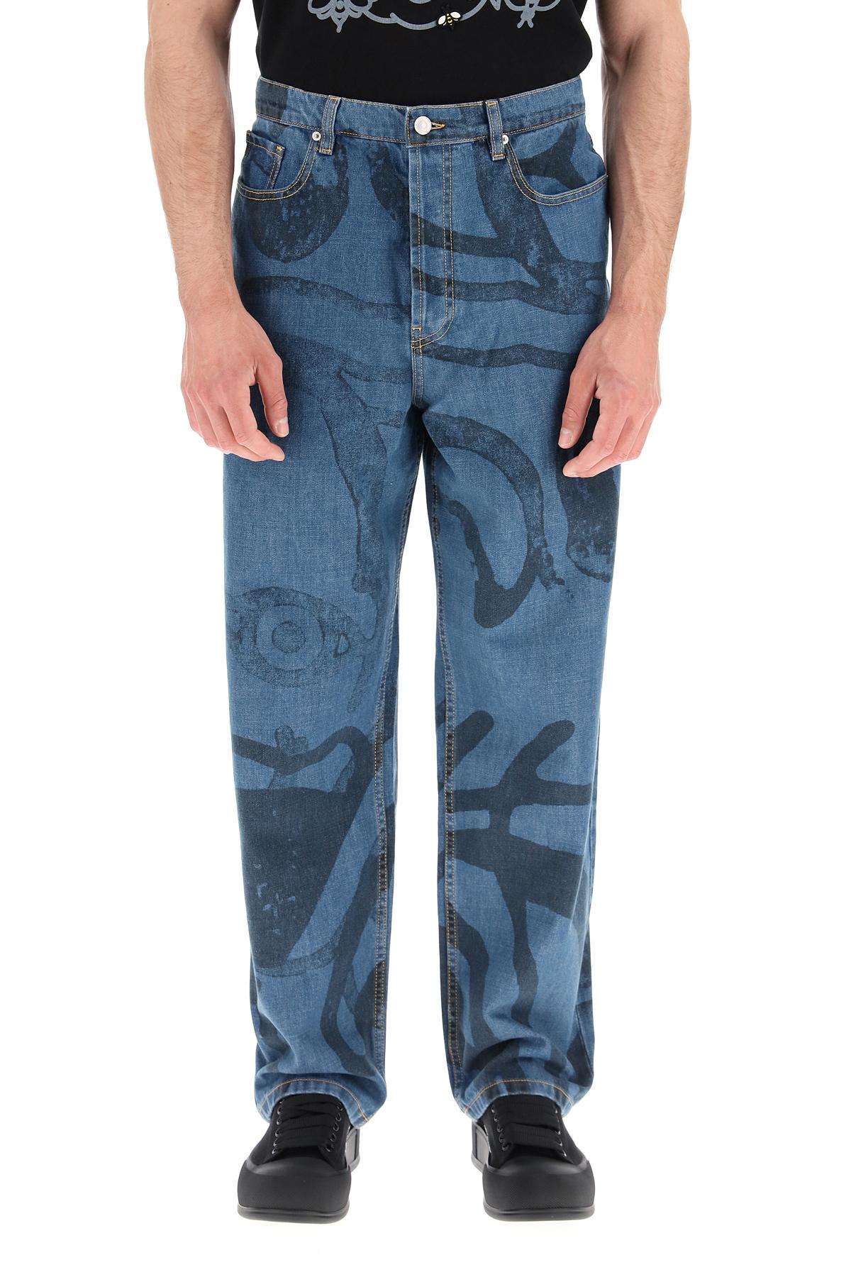 Kenzo jeans large stampa k-tiger