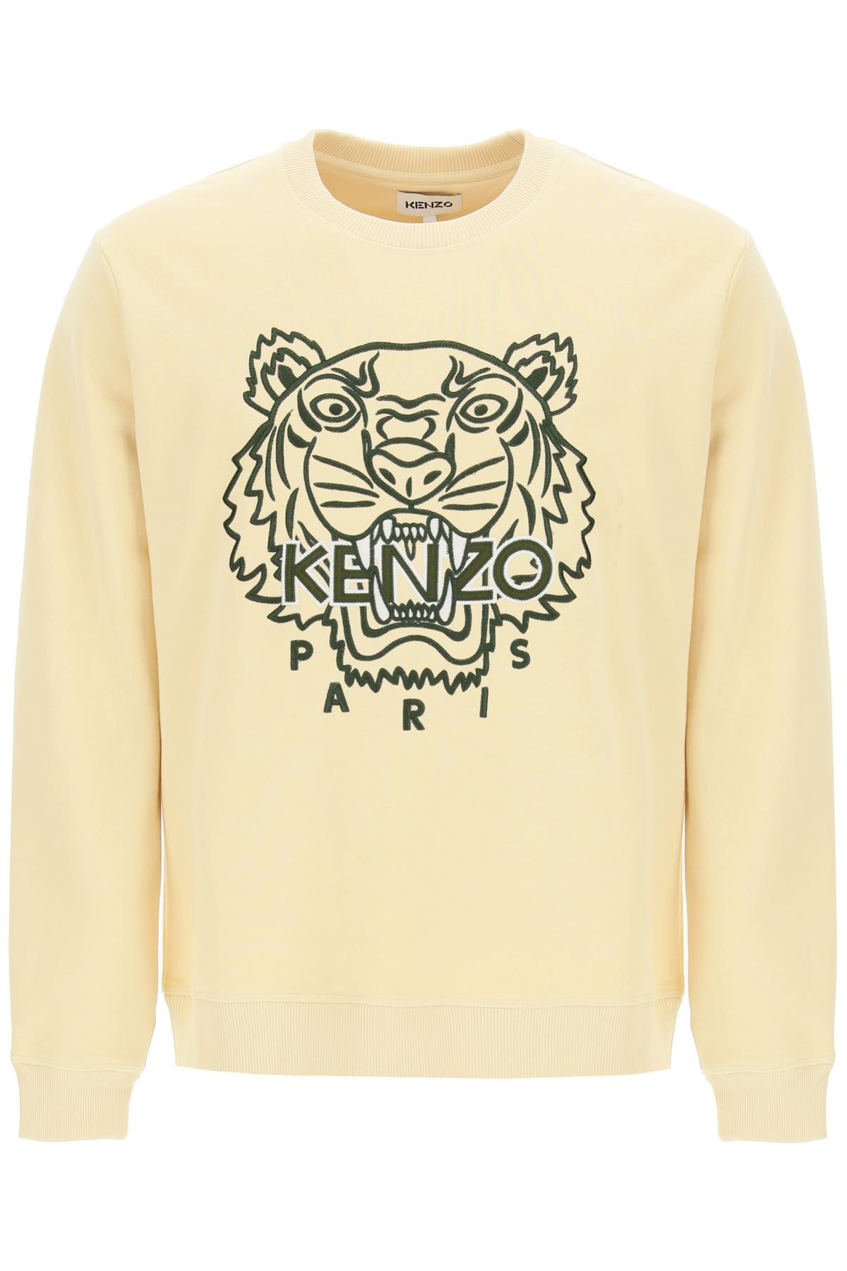 Kenzo felpa girocollo ricamo tiger