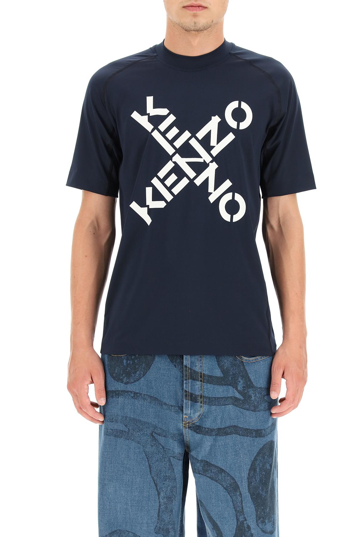 Kenzo t-shirt sportiva stampa big x