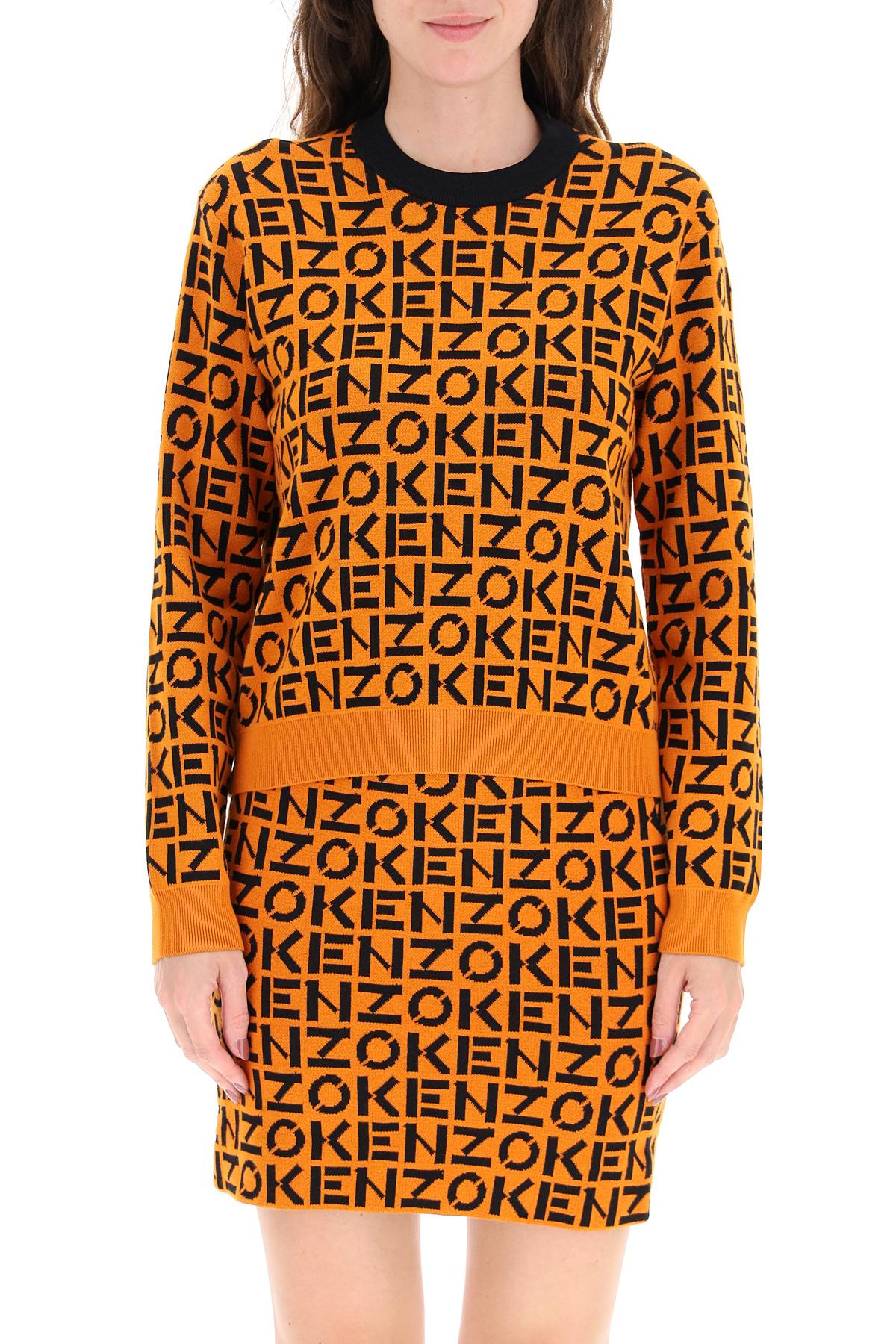 Kenzo maglione con logo all over