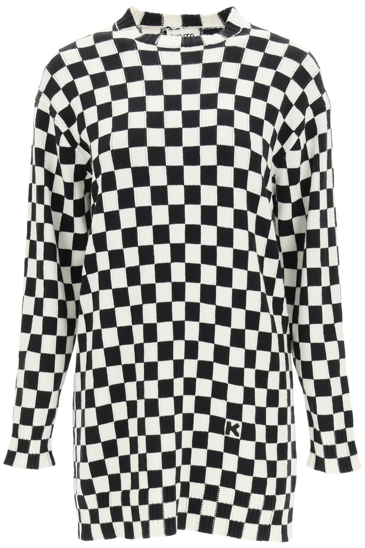 Kenzo maglione a scacchi
