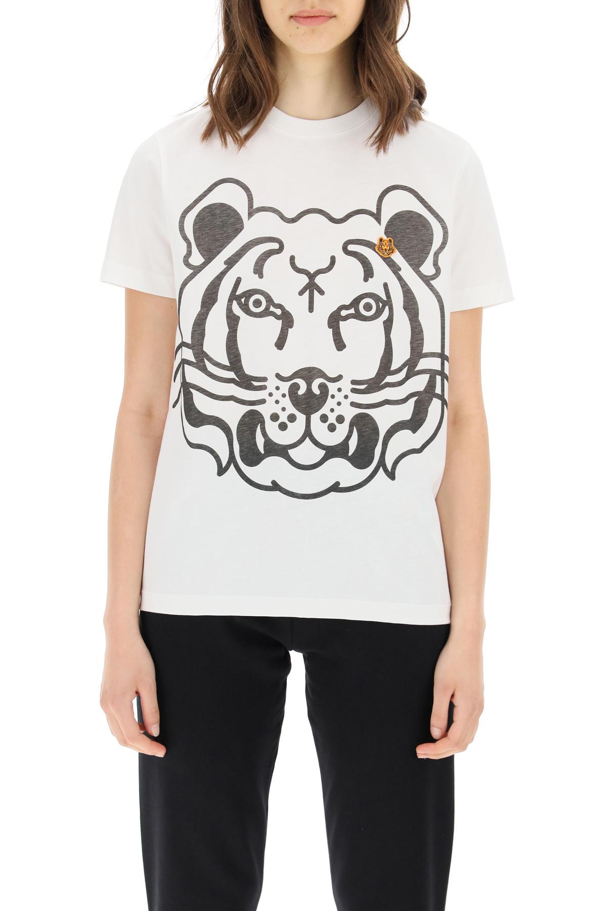 Kenzo t-shirt con stampa k-tiger