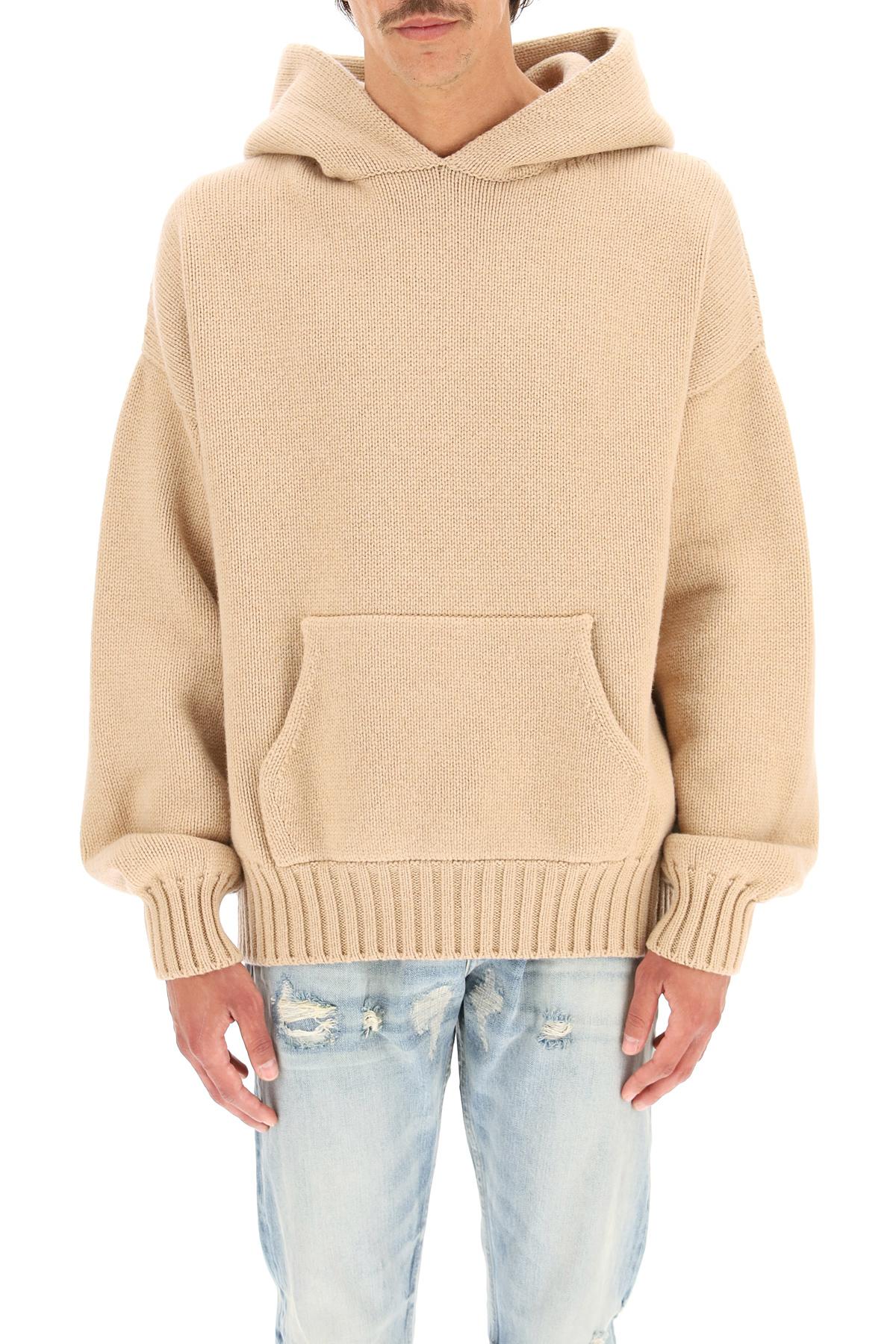 Fear of god pullover in lana con cappuccio