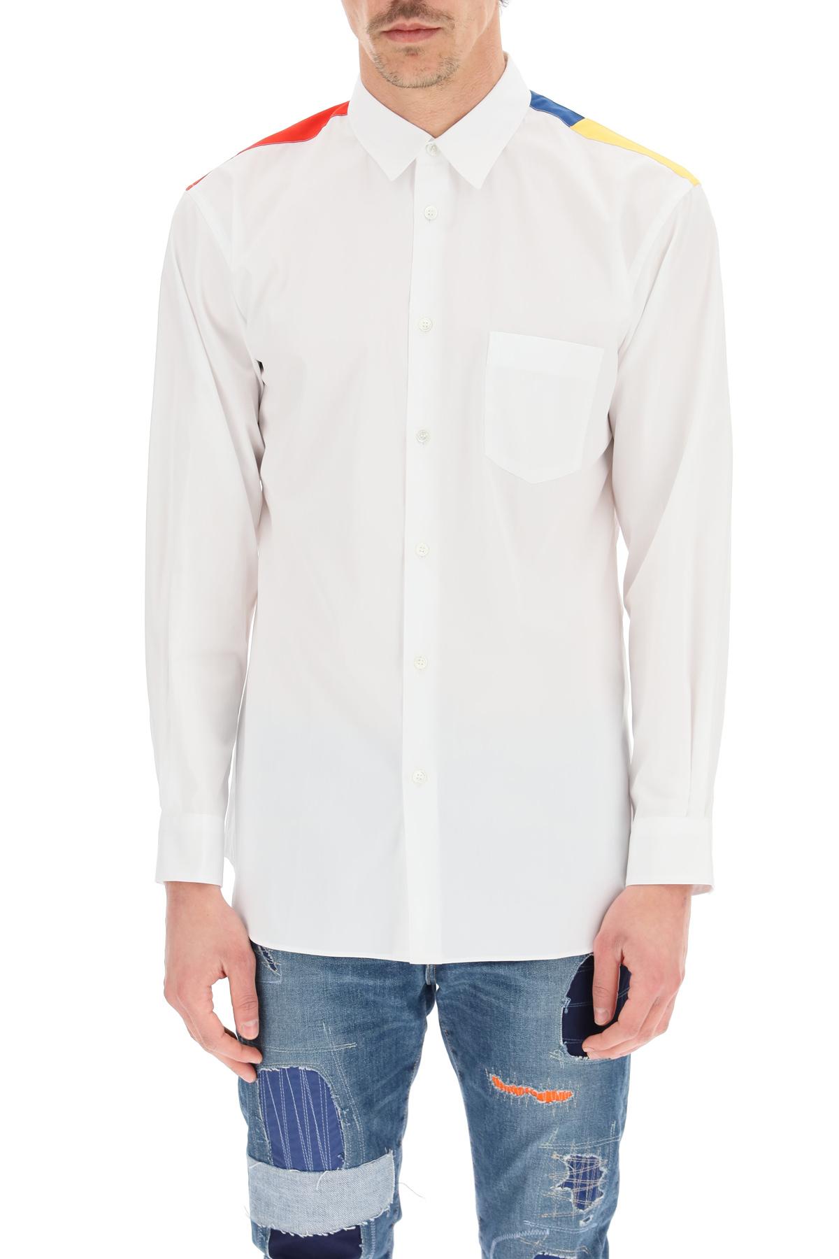 Comme des garcons shirt camicia popeline con inserto