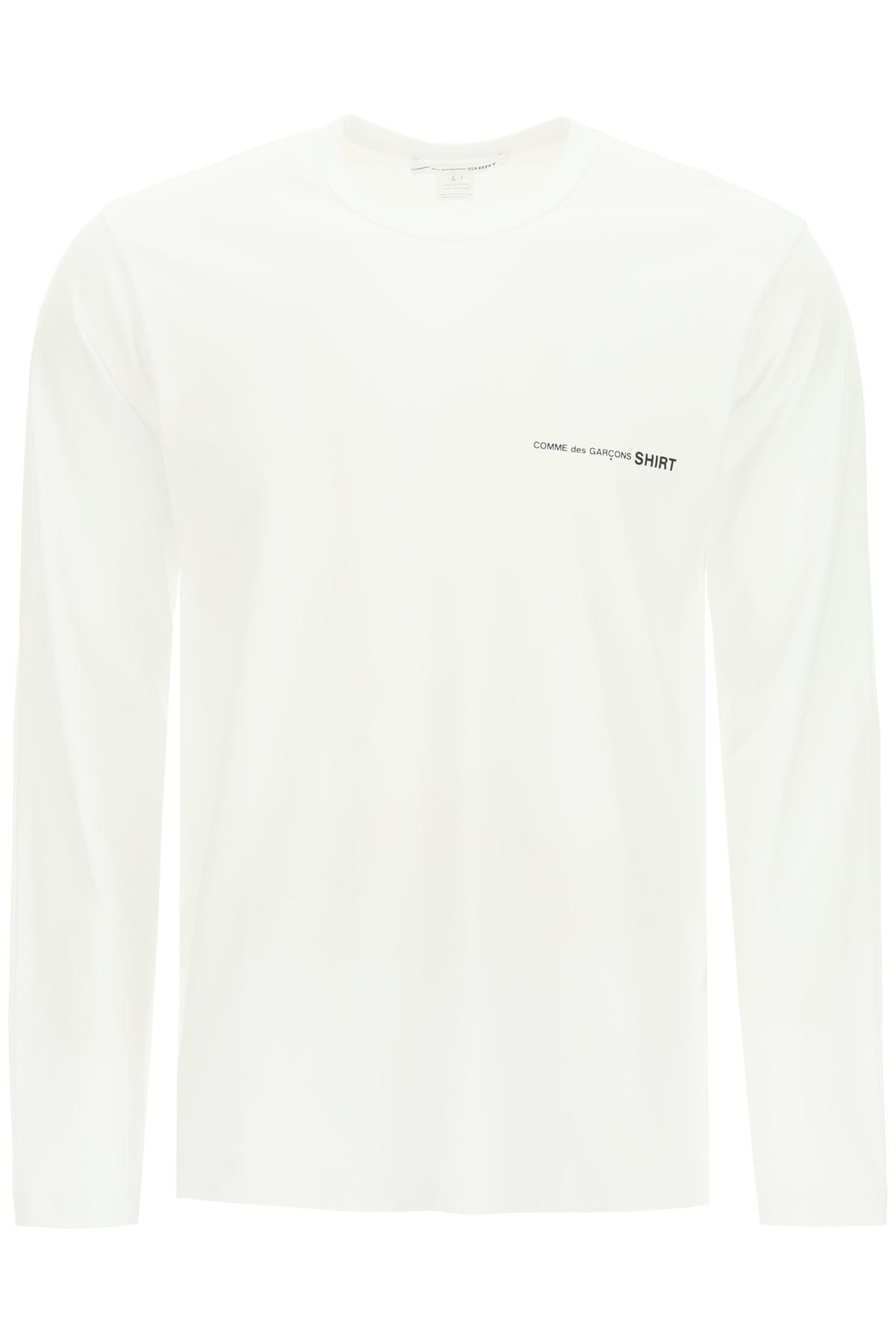 Comme des garcons shirt t- shirt manica lunga con stampa logo