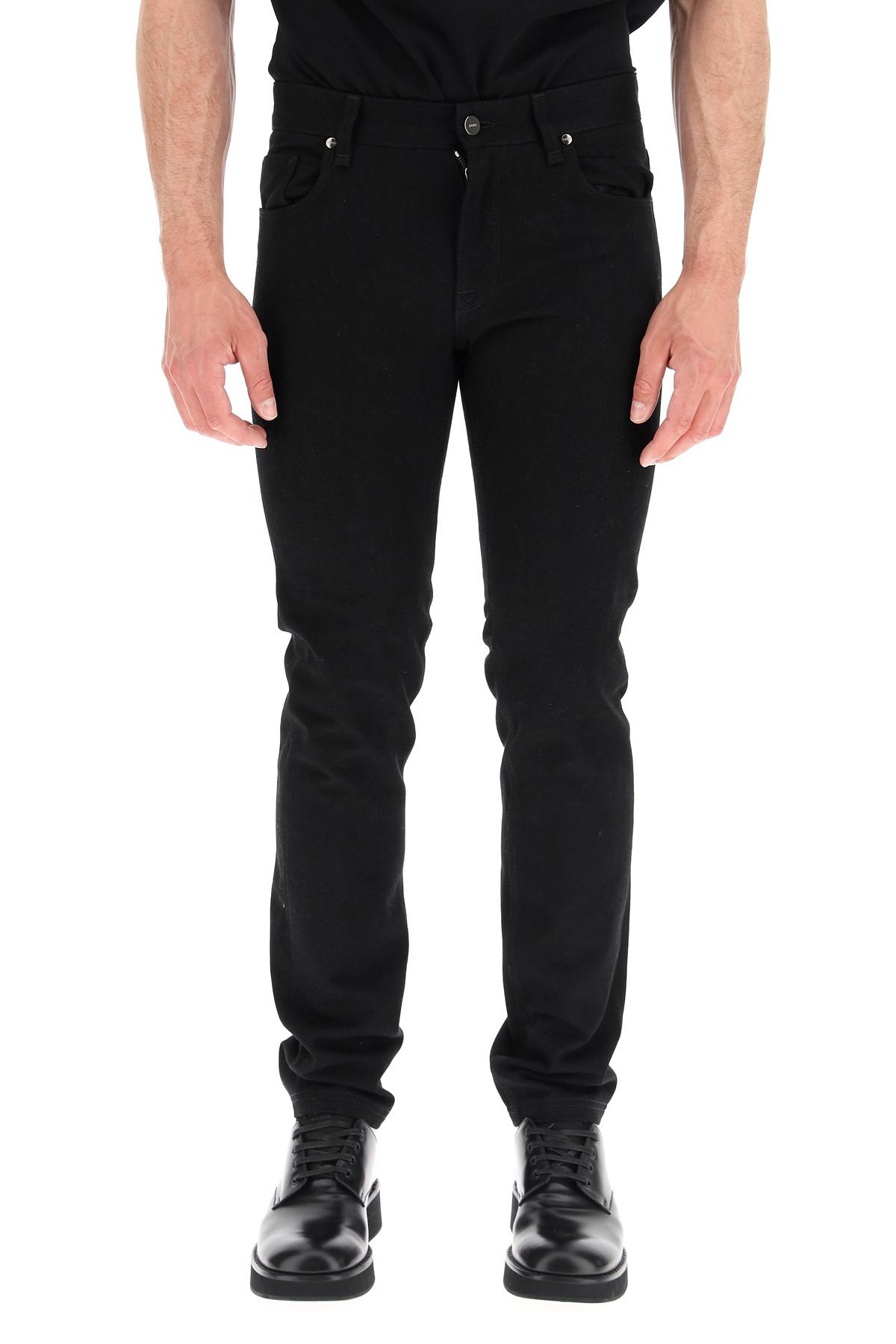 Fendi jeans slim logo ff a jour