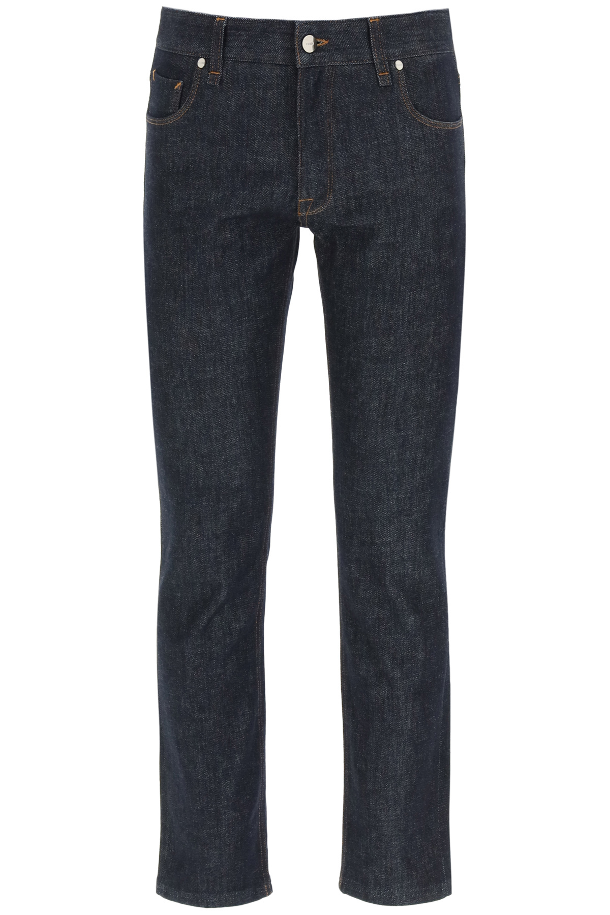 Fendi jeans slim logo ff embossed