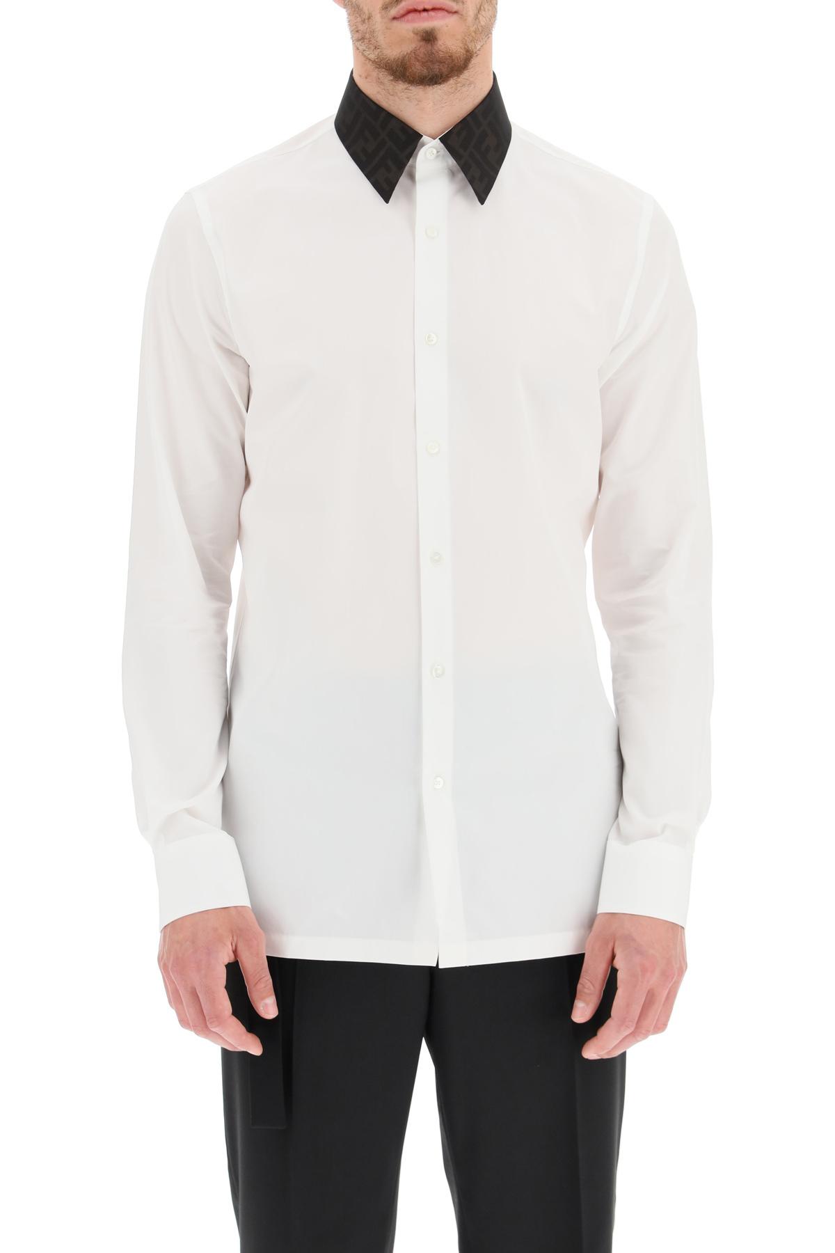Fendi camicia con collo stampato