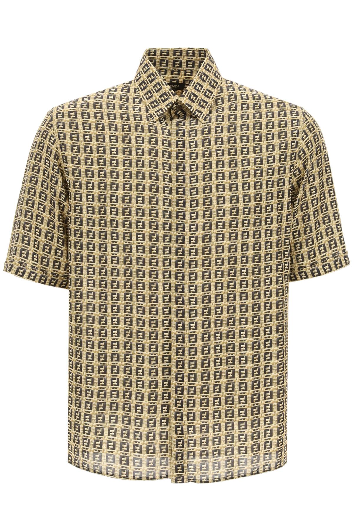 Fendi camicia logo all-over