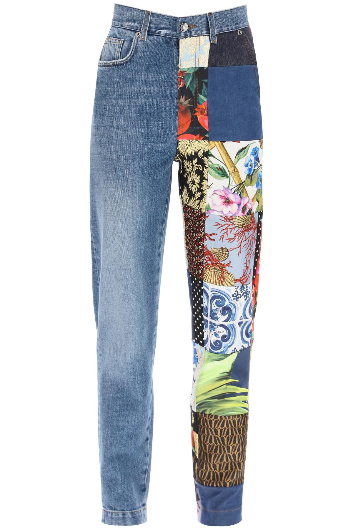 Dolce & gabbana jeans patchwork multicolor
