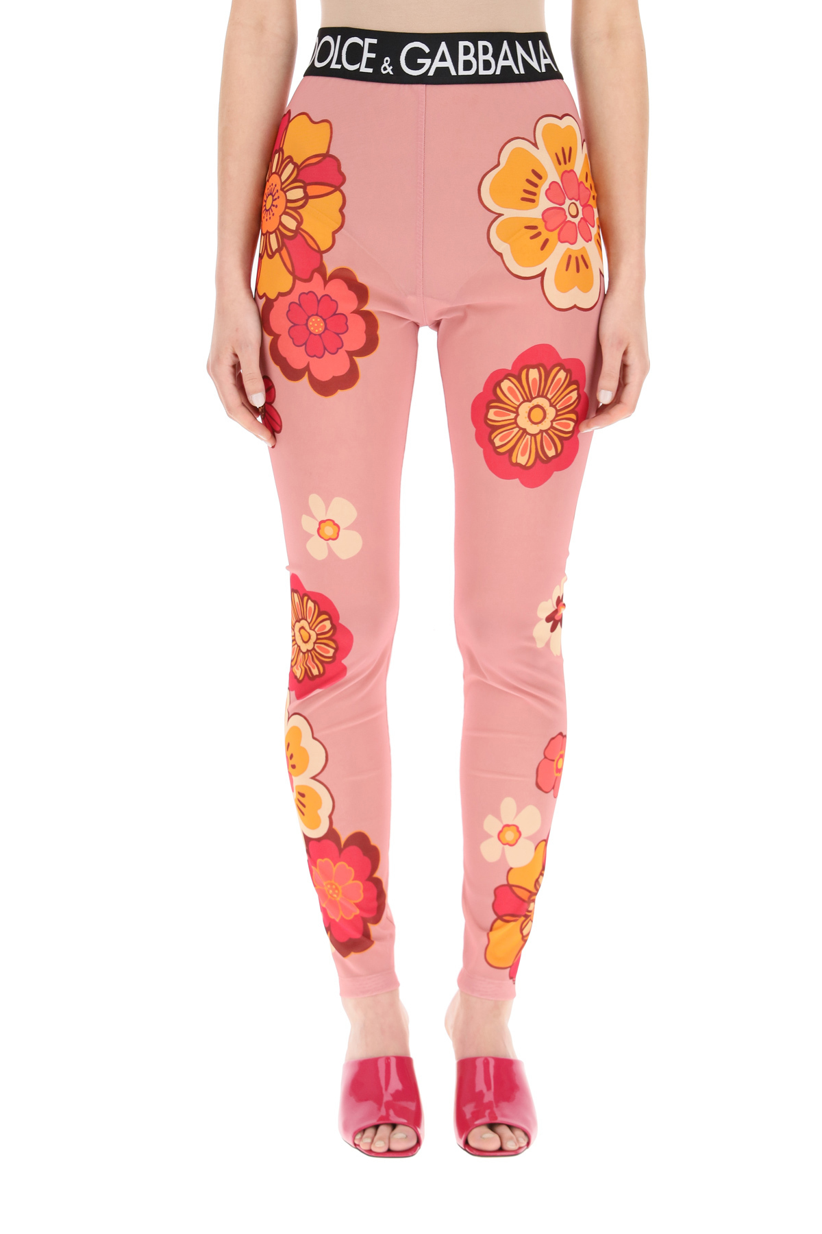 Dolce & gabbana leggings in marquisette stampa floreale