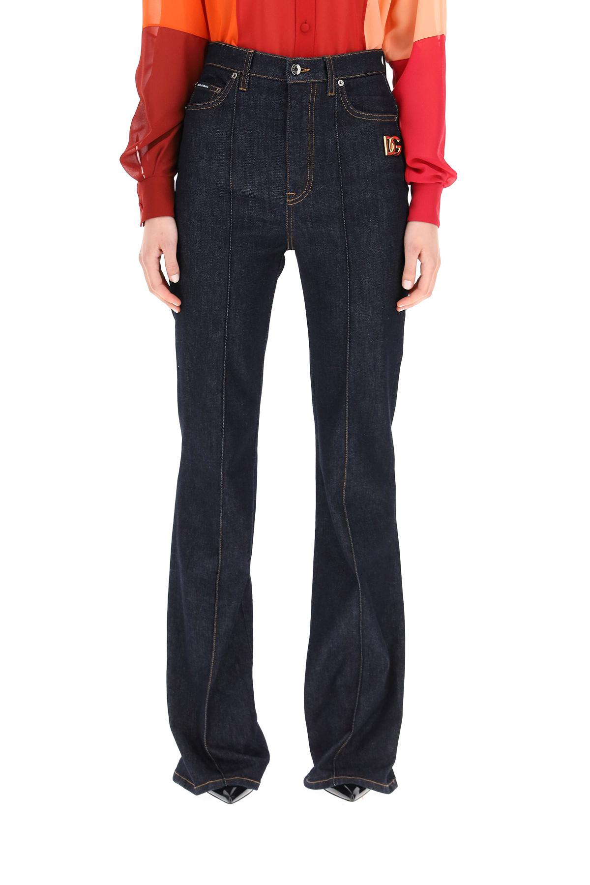 Dolce & gabbana jeans bootcut a vita alta