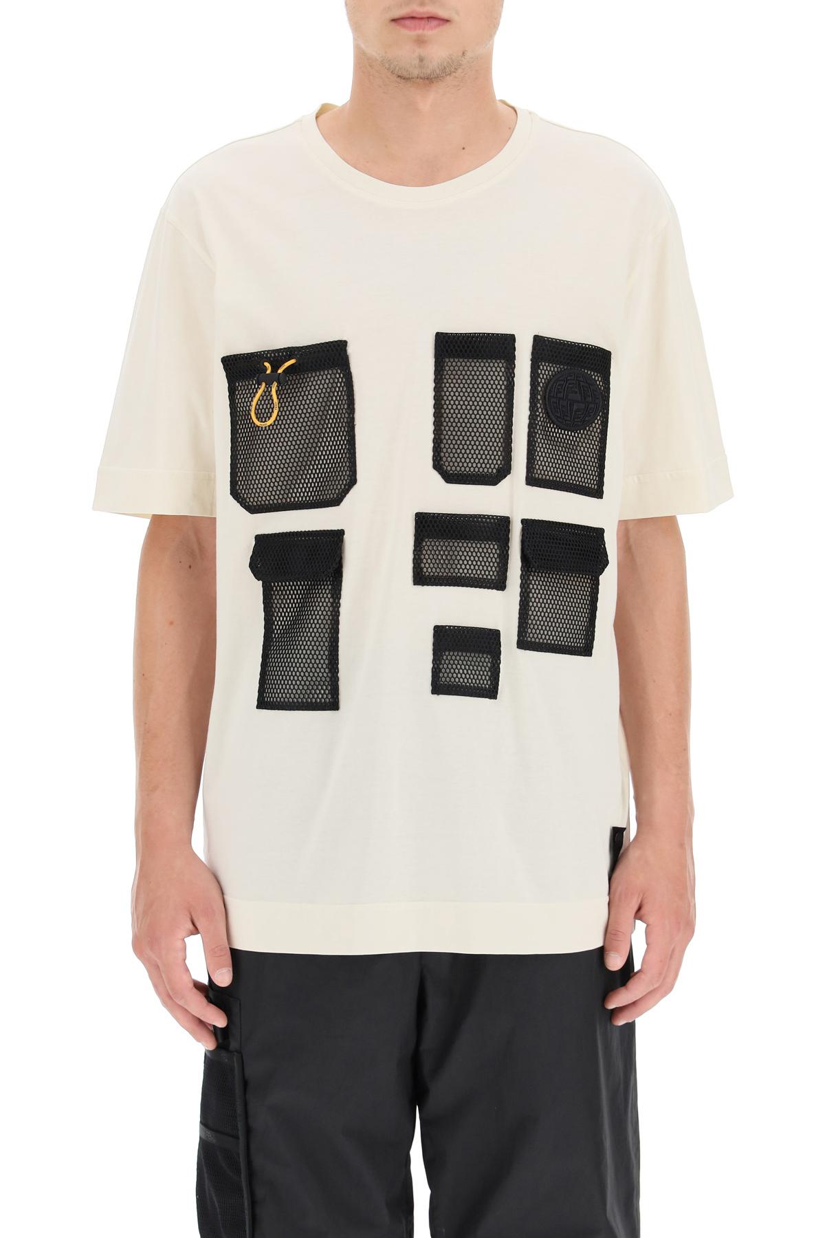 Fendi t-shirt multi pocket in mesh