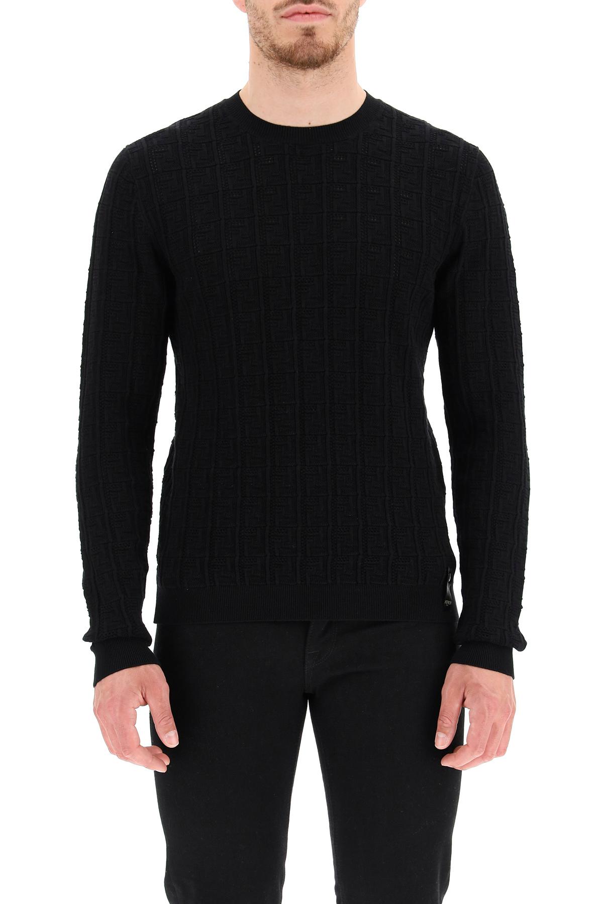 Fendi pullover ricamo ff all-over