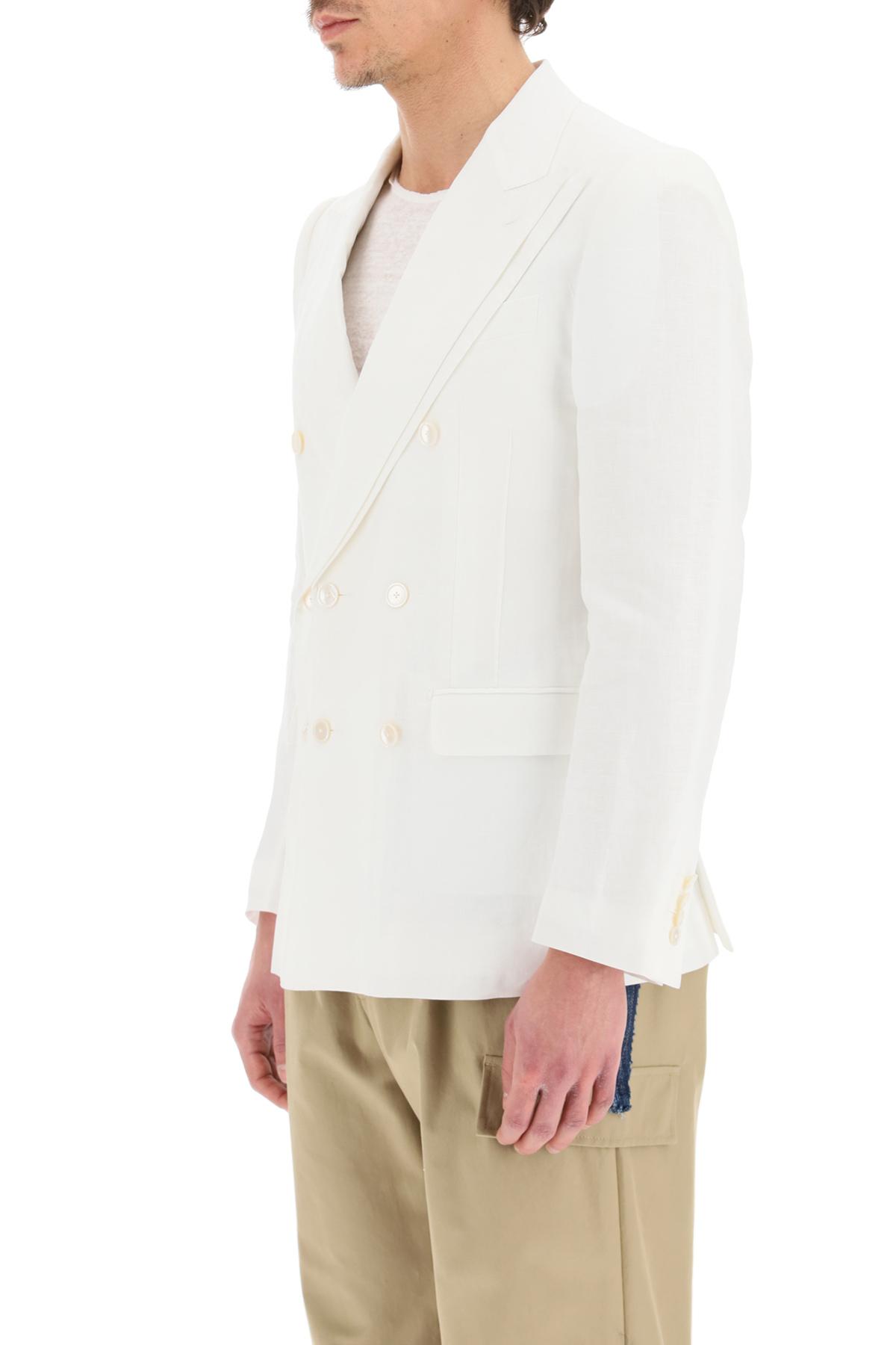 Dolce & gabbana blazer doppiopetto in lino