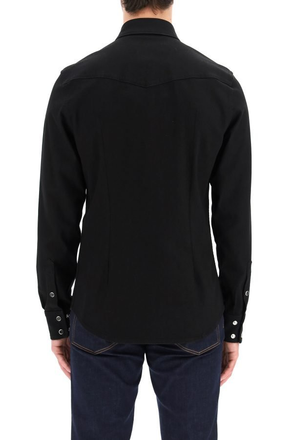 Dolce & gabbana camicia in denim stretch