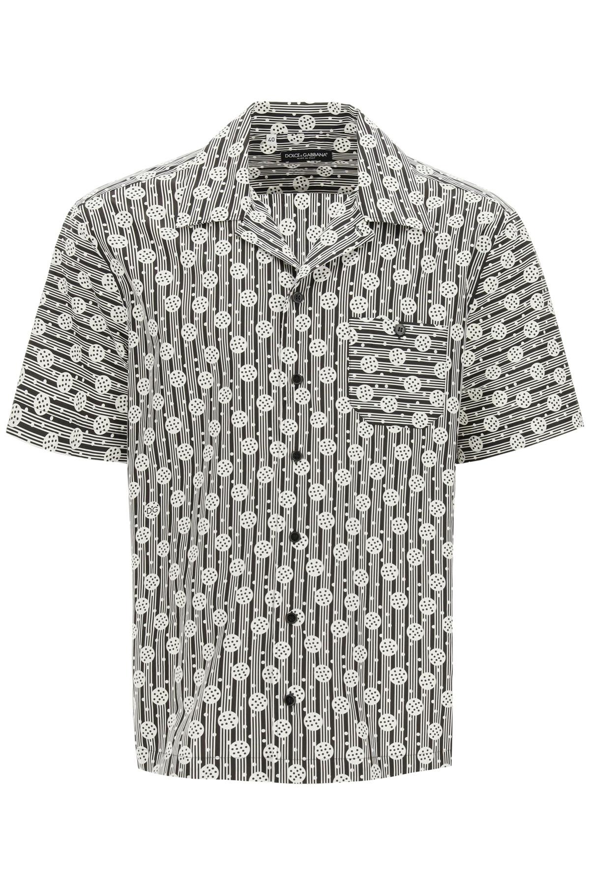 Dolce & gabbana camicia hawaii con stampa