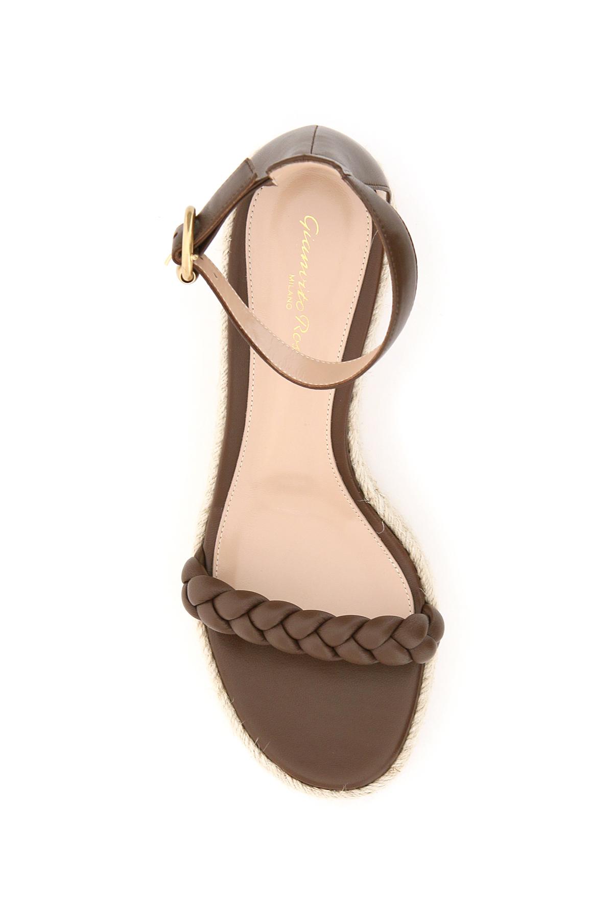 Gianvito rossi sandali in pelle platform in corda