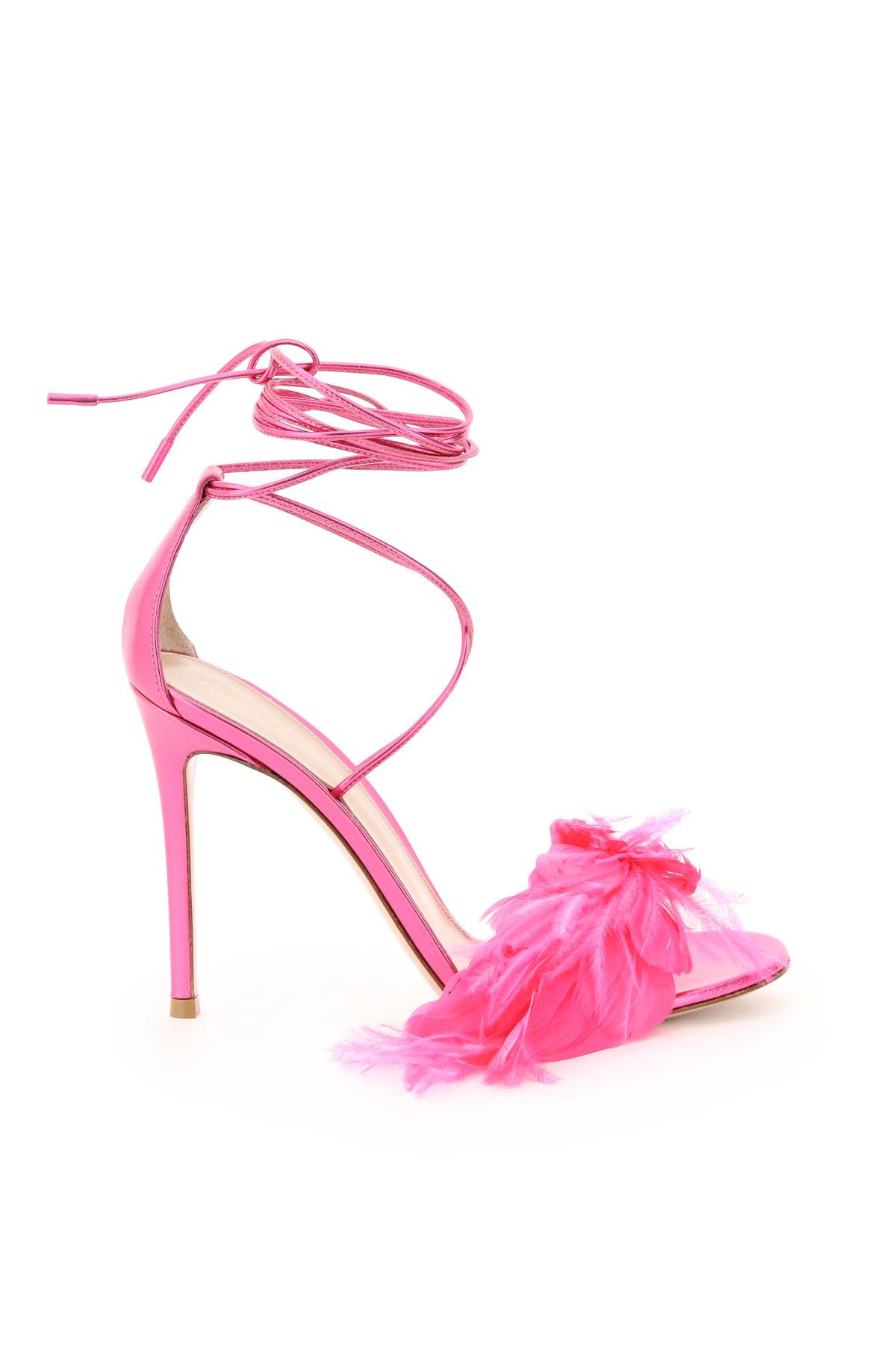 Gianvito rossi sandali con piume zephir