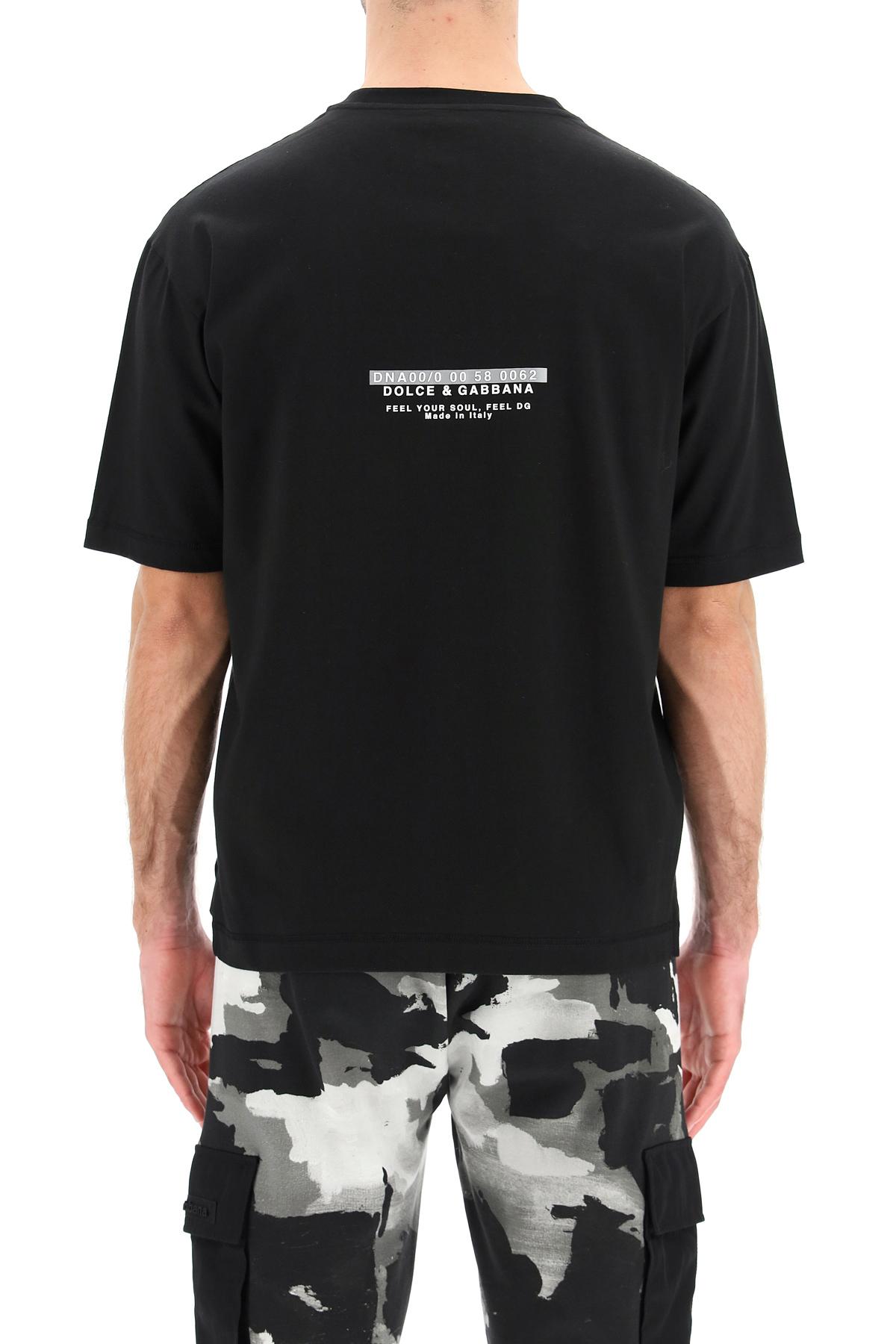 Dolce & gabbana t-shirt con logo gommato