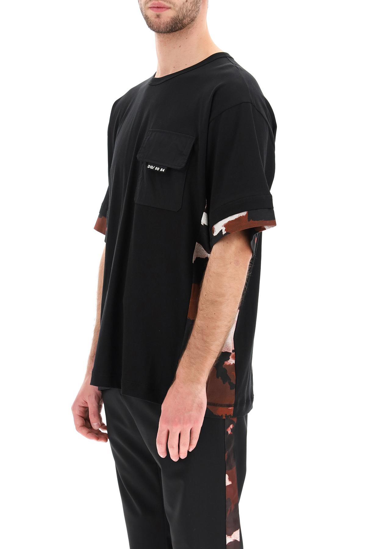 Dolce & gabbana t-shirt con inserti camouflage