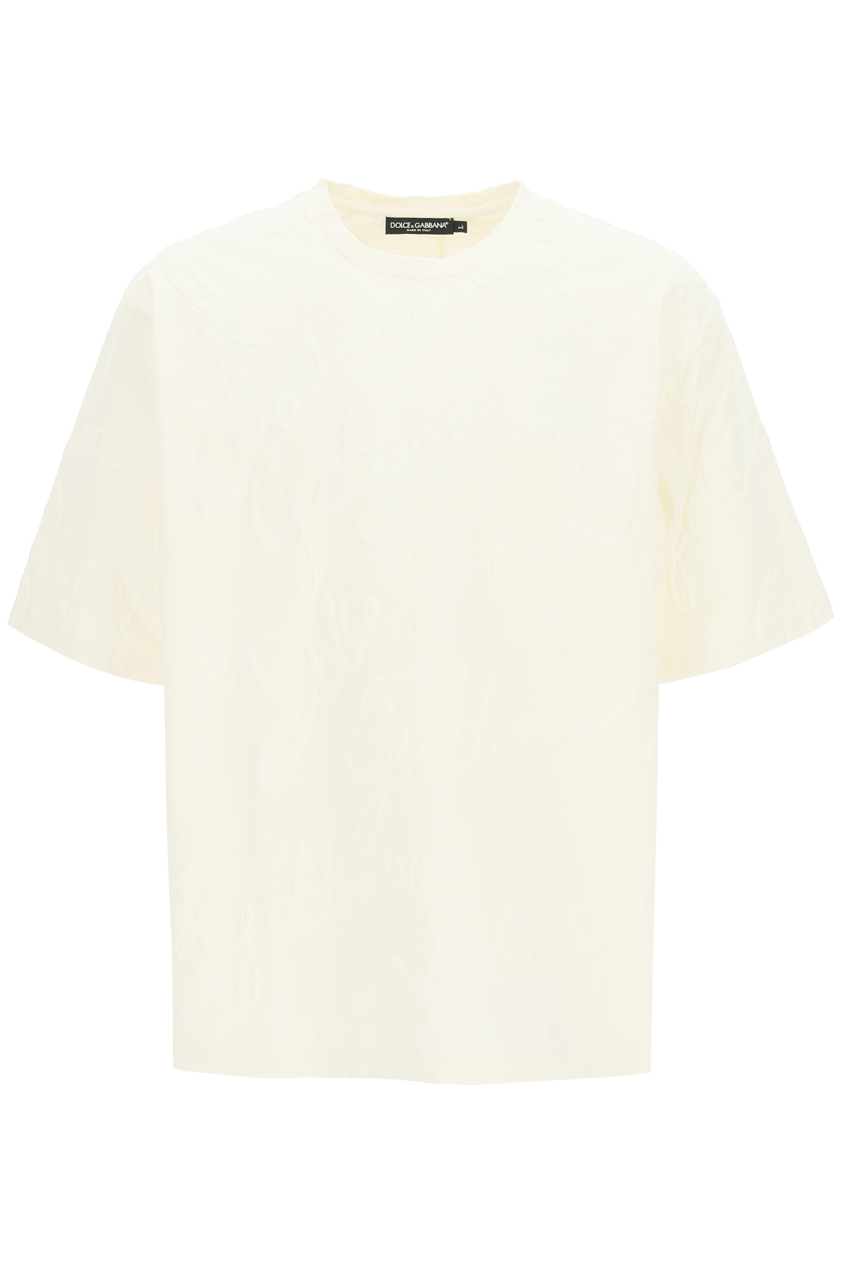Dolce & gabbana t-shirt oversize con logo all-over