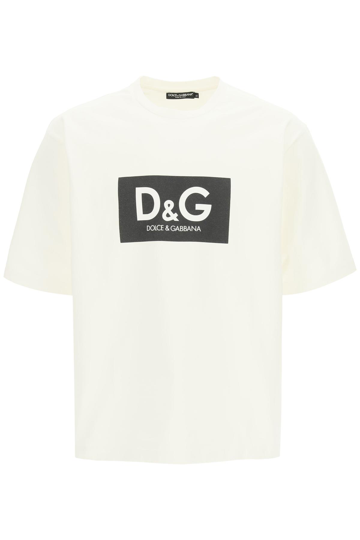Dolce & gabbana t-shirt oversize con logo