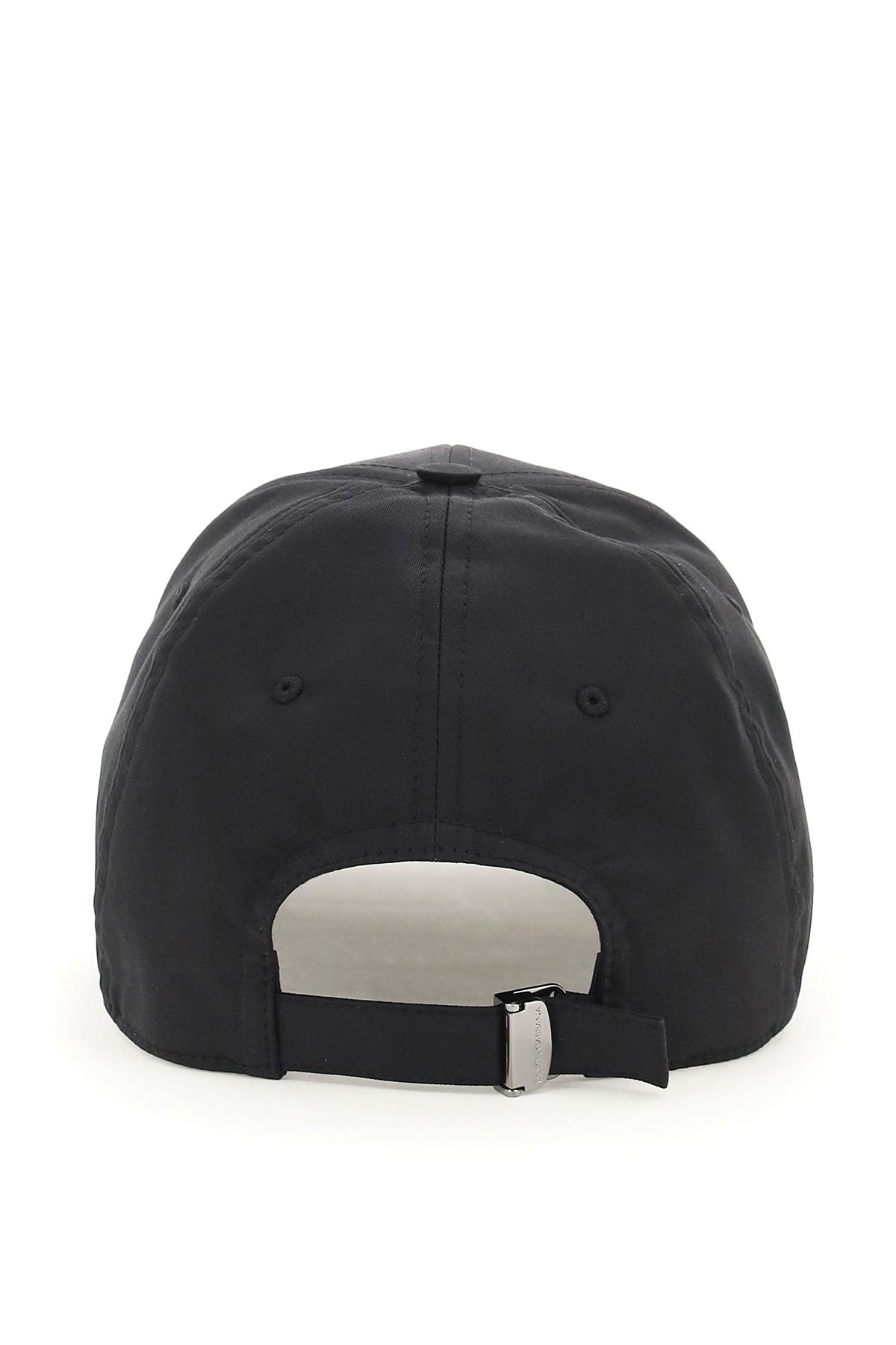 Dolce & gabbana cappello da baseball con placca logo