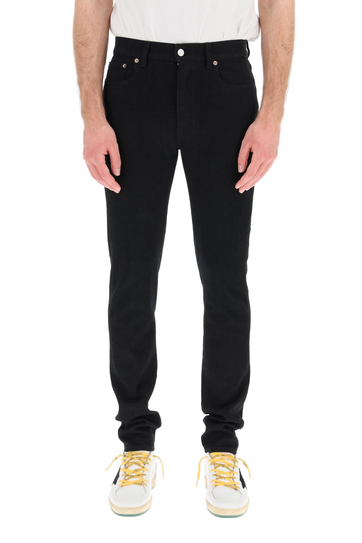 Golden goose jeans alvaro con lettering sulla tasca