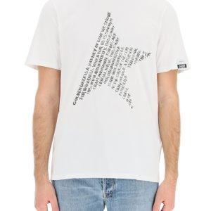 Golden goose t-shirt adamo con stampa