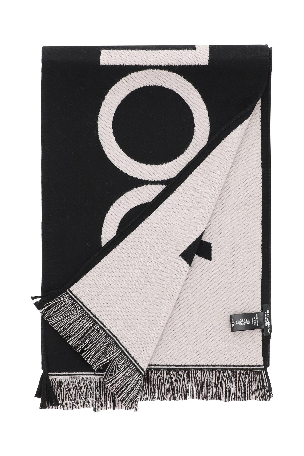 Dolce & gabbana sciarpa in lana con logo