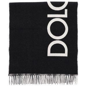 Dolce & gabbana sciarpa double-face logo tartan