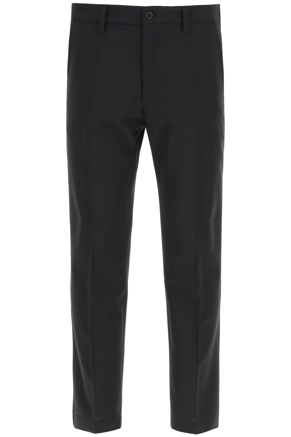 Dolce & gabbana pantaloni casual in misto lana