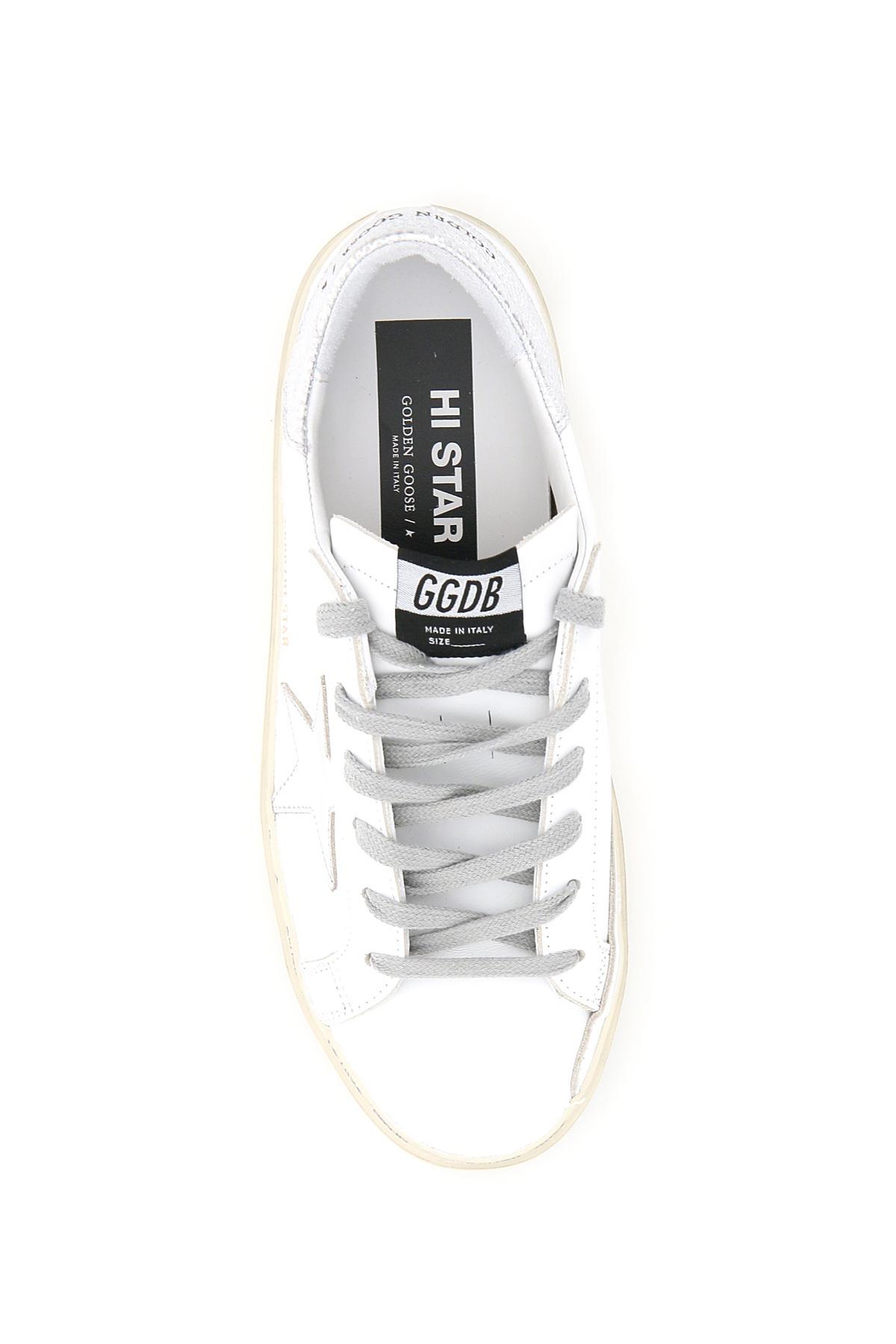 Golden goose sneakers in pelle hi star