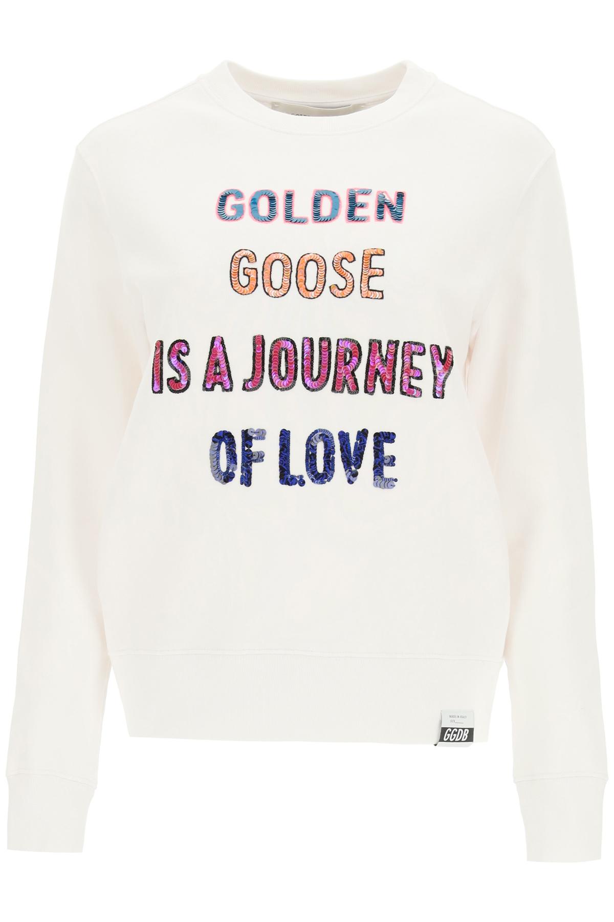 Golden goose felpa athena logo paillettes