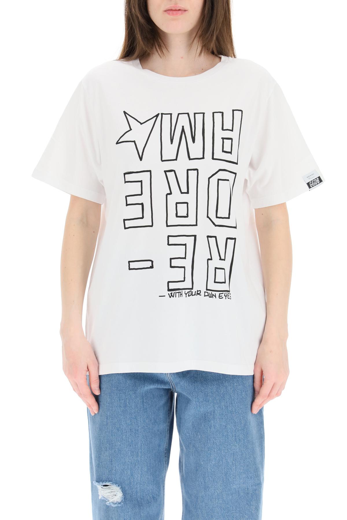 Golden goose t-shirt aira big dreamer invertito