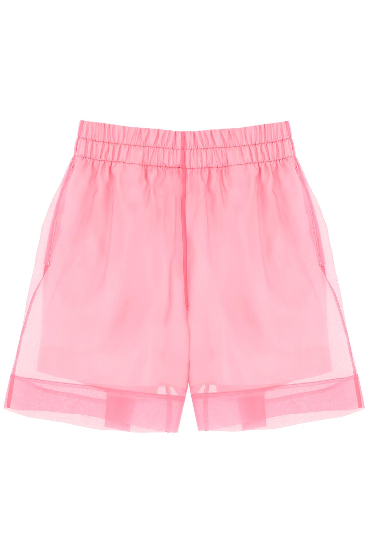 Dries van noten shorts in organza di seta