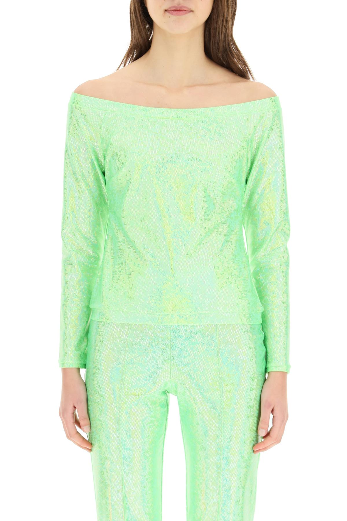 Saks potts t-shirt herm green shimmer