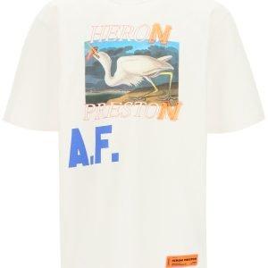 Heron preston t-shirt over stampa heron a.f.