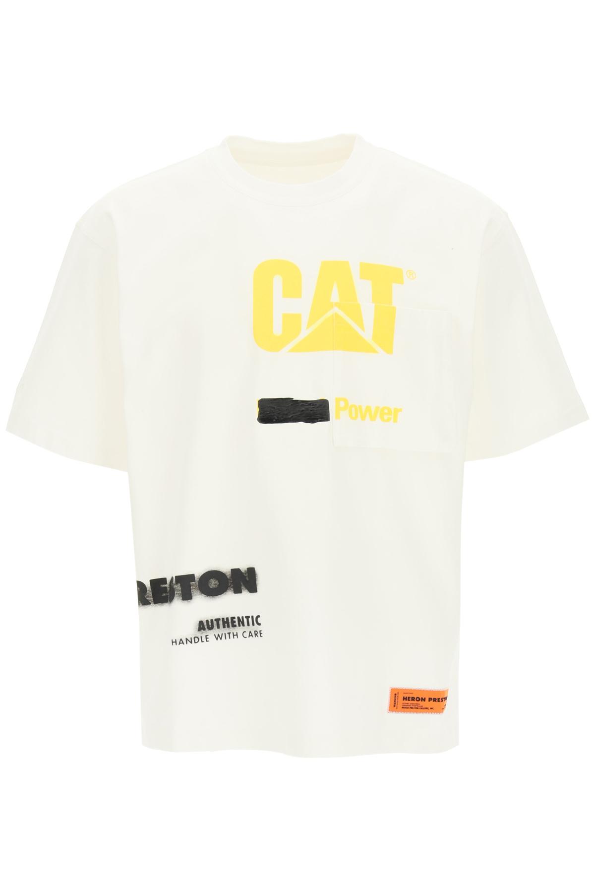 Heron preston t-shirt hp x caterpillar
