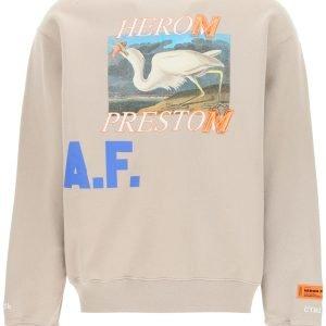 Heron preston felpa girocollo heron a.f.
