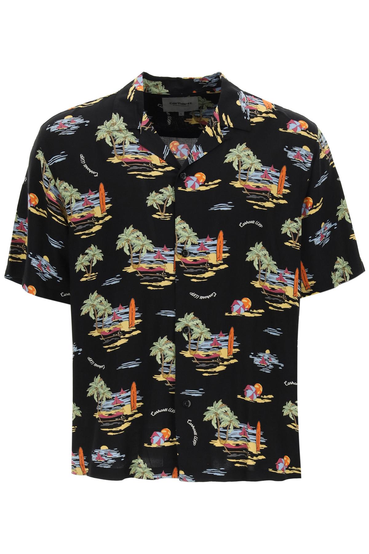 Carhartt camicia hawaiian stampa beach