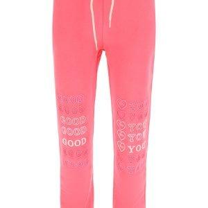Ireneisgood pantaloni jogger ricamo good for you