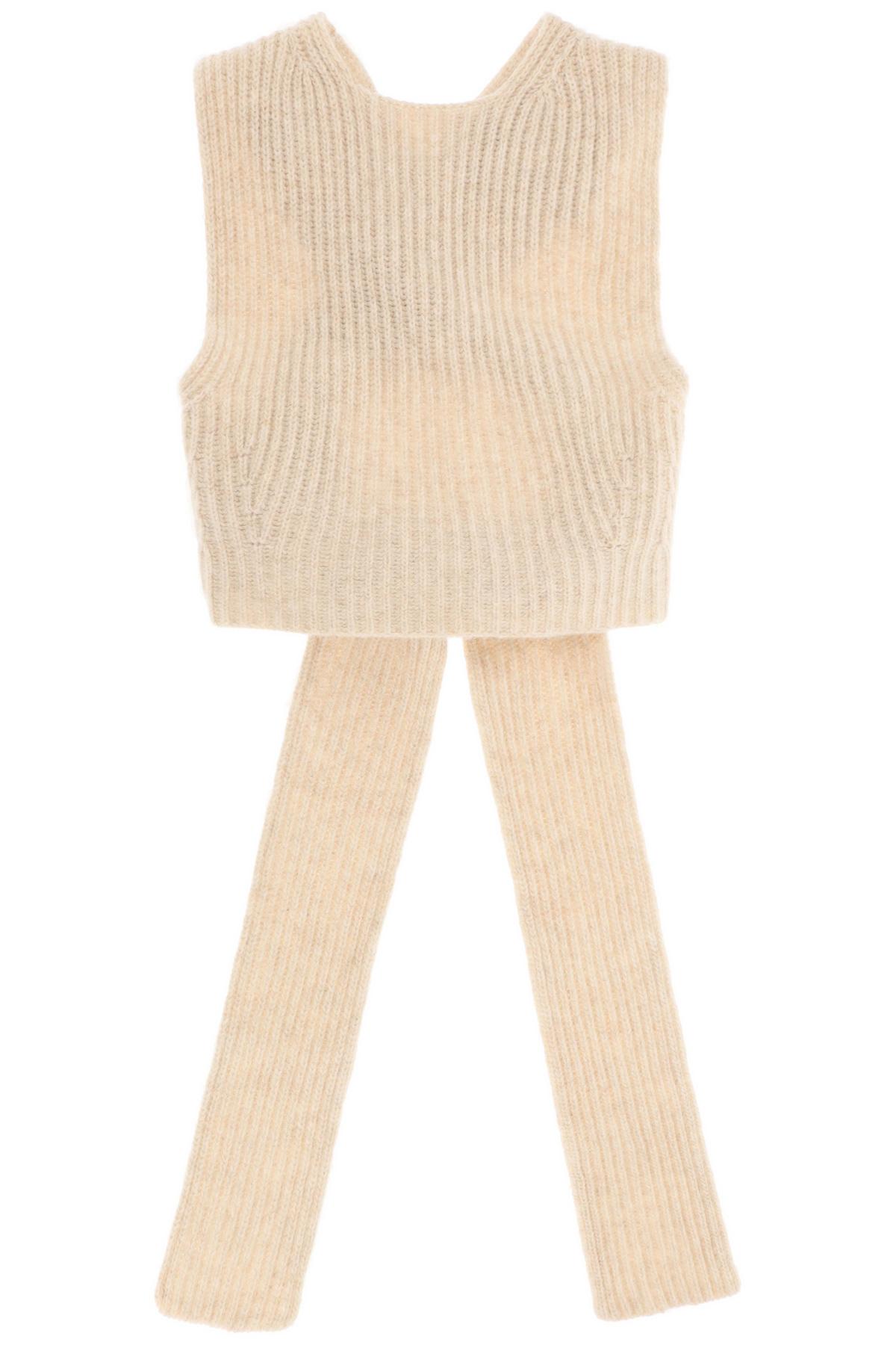 Ganni gilet in lana riciclata