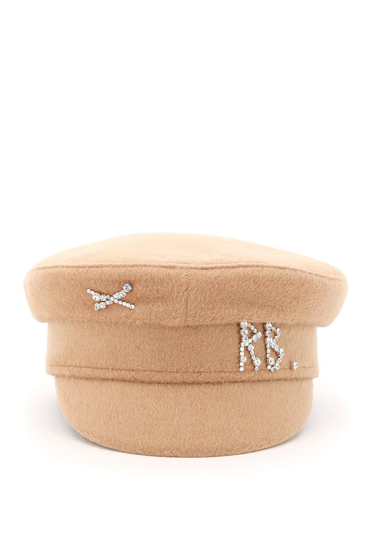 Ruslan baginskiy cappello baker boy crystal logo