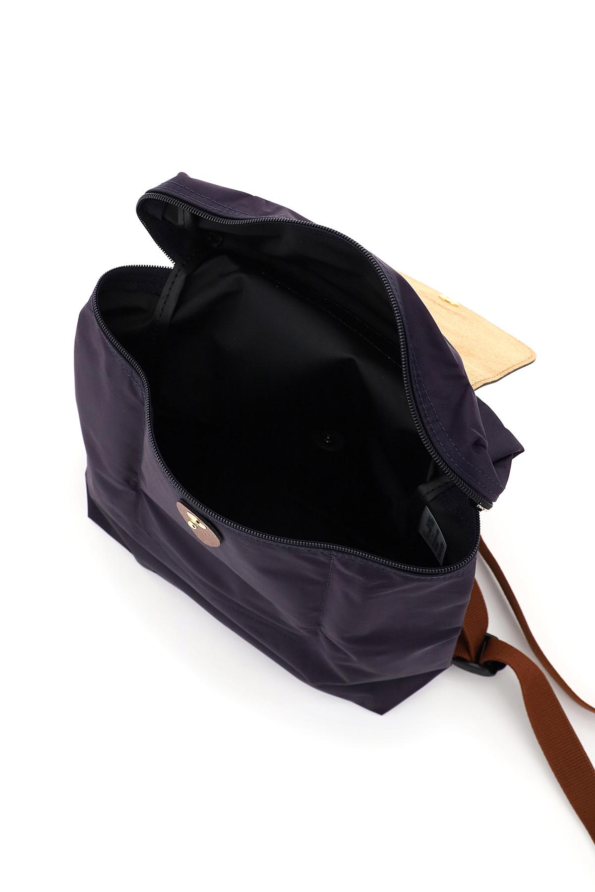 Longchamp zaino le pliage original nylon e pelle