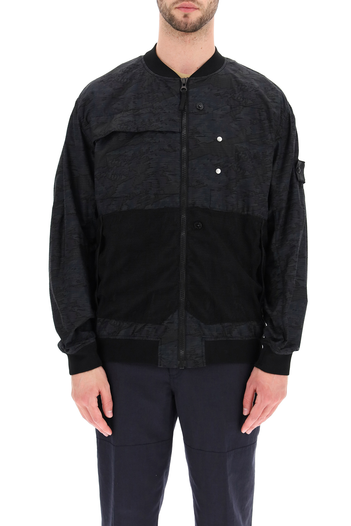 Stone island shadow project bomber in dpm ripstop devore'