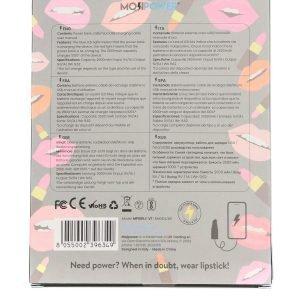 L10 power bank mojipower lipstick